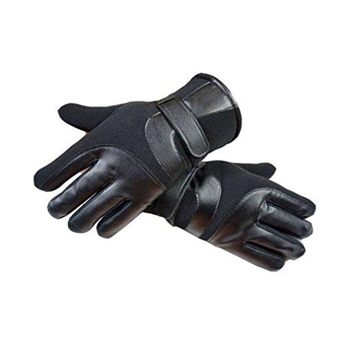 WENER Mens Touchscreen Winter Gloves Driving Fleece Lining Warm Gloves (Black) (Fleece Purpose Gloves)