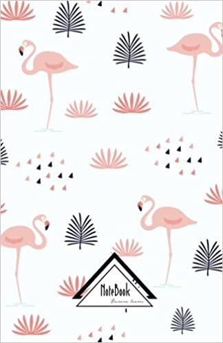 Book Notebook Journal Dot-Grid, Graph, Lined, No lined: Sweet Pink Flamingo Pattern: Small Pocket Notebook Journal Diary, 120 pages, 5.5