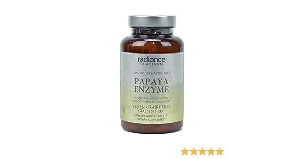Radiance Platinum 100% Preservative Free Papaya Enzyme Vegan Dairy Free, Gluten Free, 250...