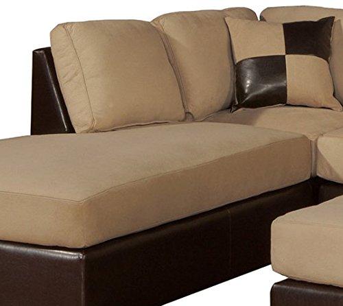 Bobkona hungtinton microfiber faux leather 3 piece for 6 piece microfiber sectional sofa