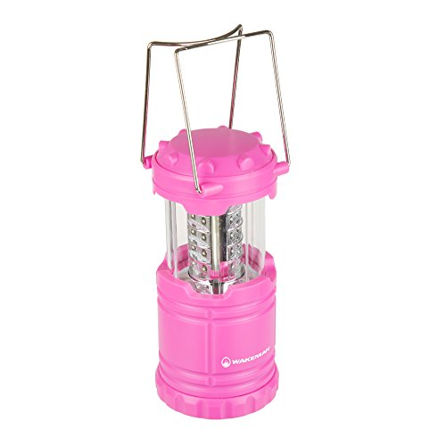Wakeman LED Lantern, Collapsible and Portable LED Outdoor Camping Lantern Flashlight for Hiking, Camping and Emergency Outdoors (Pink)]()