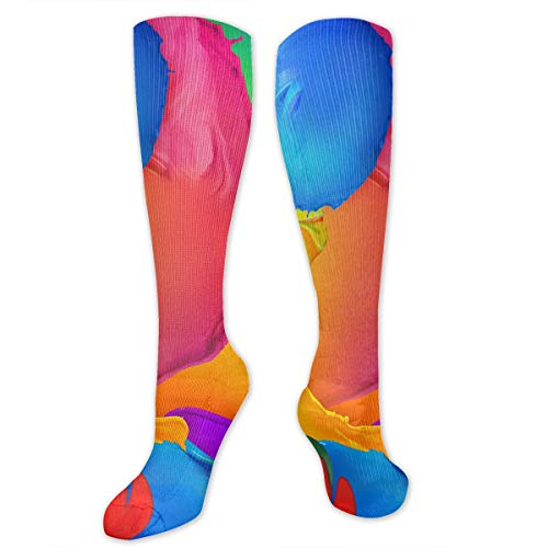 Novelty Colorful Polygon Wallpaper Android Wallpaper Paint Background Socks Crew Socks For -