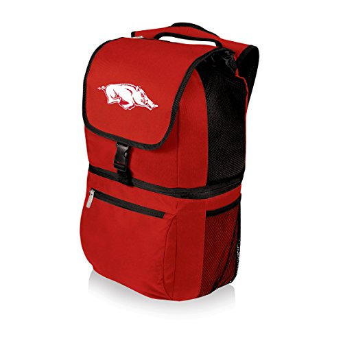 PICNIC TIME NCAA Arkansas Razorbacks Zuma Insulated Cooler Backpack, Red