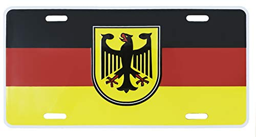 (German Flag Metal License Plate Germany Auto Tag 6