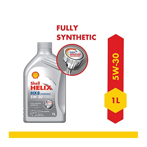 Shell Helix HX8 5W-30 API SN Fully Synthetic Engine Oil for Cars (1 L)