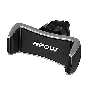Mpow Supporto auto per telefono con fissaggio alle griglie di aerazione, Supporto auto universale alla griglia di… 2 spesavip