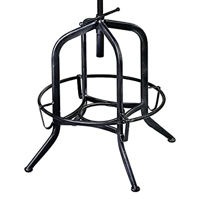 Armen Living Elena Adjustable Swivel Bar Stool