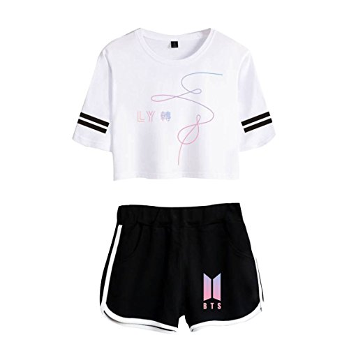 Donna e CTOOO Oversize Corta Pantaloncini Shirt Yourself BTS Love T 10 FqqwP8E1x
