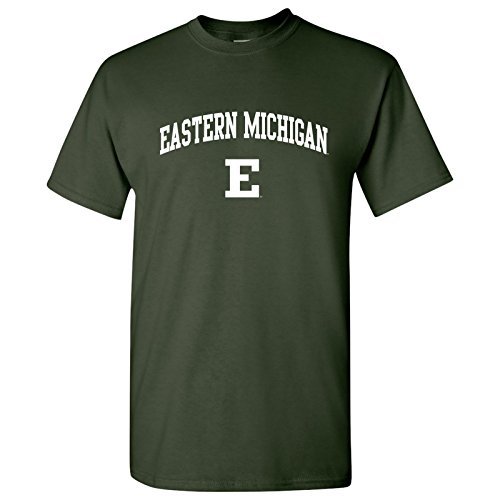 Football Eastern Michigan (AS03 - Eastern Michigan Eagles Arch Logo T-Shirt - X-Large - Forest)