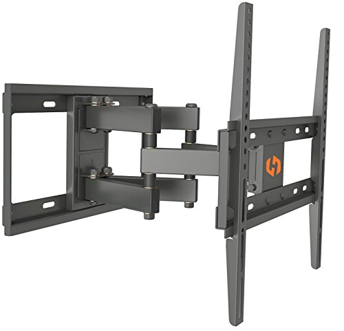 Husky Mounts Full Motion TV Wall Mount Fits Most 32-55 Inch LED LCD Flat Screen Up to VESA 400X400 Tilt Swivel Articulating TV Bracket
