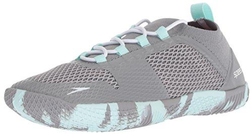 Speedo Women's Fathom AQ Fitness Water Shoes, Heather Grey, 9 C/D US