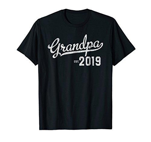 Grandpa Est 2019 T-Shirt First Time Grandpa ()