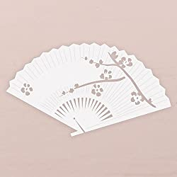 Laser Expressions Cherry Blossom Fan Die Cut Card - White