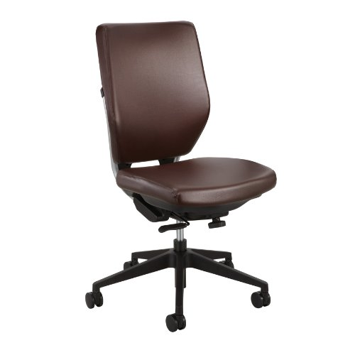 Safco Products 7065BR Sol Task Chair Optional arms sold separately , Brown Vinyl