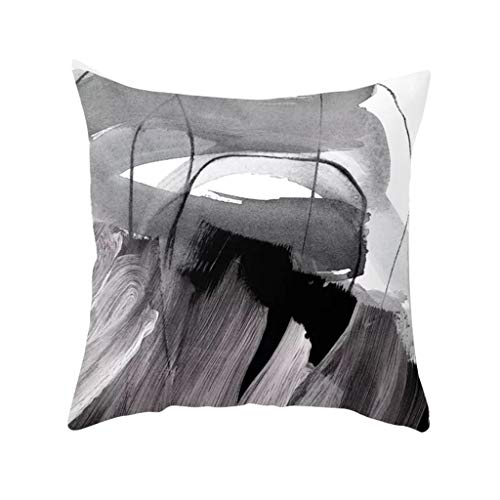 Shimigy Abstract Geometric Oil Painting Series Ultra Short Velvet Pillowcase Sofa Cushion (G)