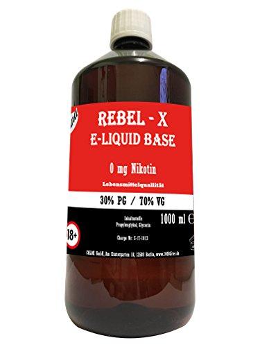 """E Liquid Base 1L 30 PG/70 VG für mehr Dampf"""" Laguna Rebel X"""" PUR Vape OHNE Nikotin 0 1000 ml"""