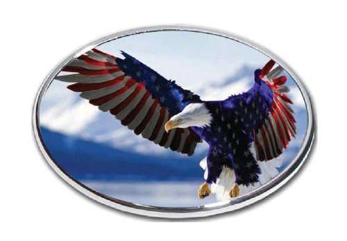 American Bald Eagle Flag - 1 Hitch Cover 2
