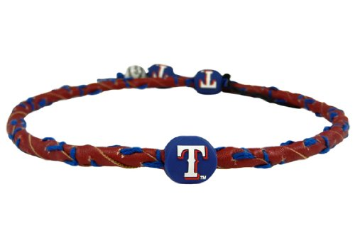 MLB Texas Rangers Red Team Color Frozen Rope Baseball - Mlb Frozen Necklace Rope