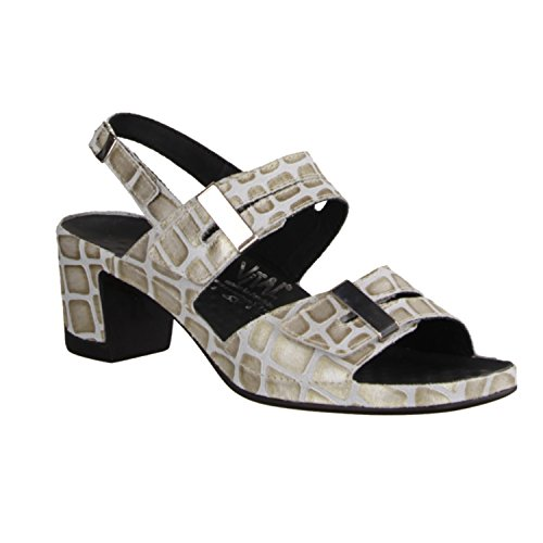 Vital 0506-7710 - Sandalette Pour Femmes / Sling, Beige, cuir, hauteur talon: 50 mm