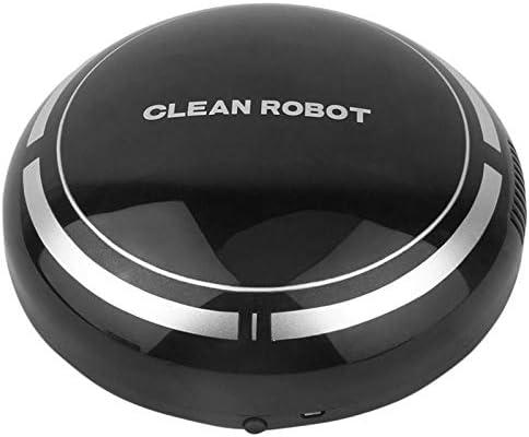 BFFDD 2 Dans 1 Rechargeable étage Balayer Robot poussière Catcher Intelligent Auto-induction sol Aspirateur Robot Balayer (Color : Black) Black