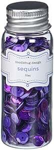 DOODLEBUG Kraft in Color Assorted Sequins, Lilac