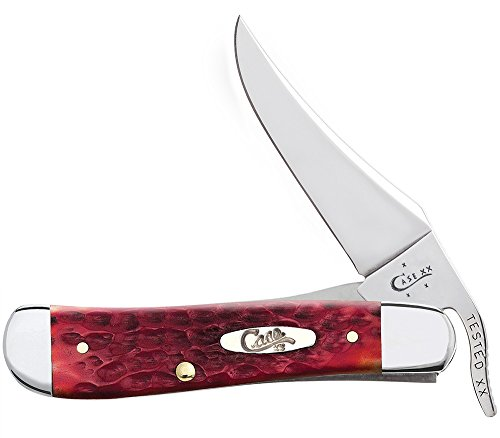 Case Dark Red Bone CV Russlock Pocket Knife
