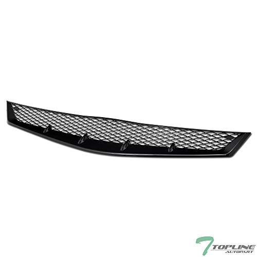 Civic Vertical Doors - Topline Autopart Black T-R Sport Mesh Front Hood Bumper Grill Grille ABS For 06-08 Honda Civic 2 Door Coupe
