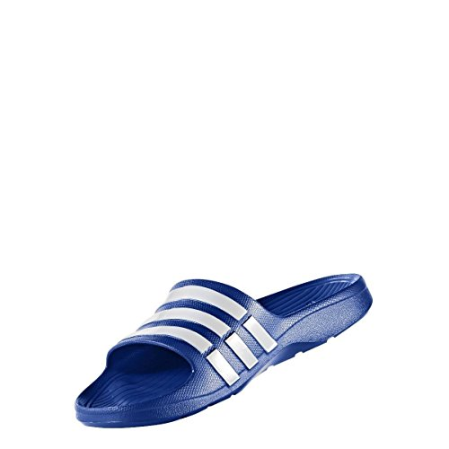 adidas Duramo Slide - Chanclas unisex bleu vrai / vrai bleu / blanc