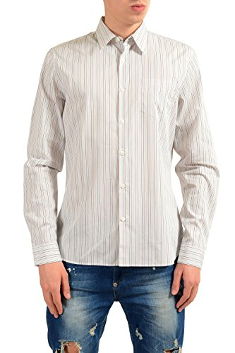 Prada Long Sleeve Dress Shirt - Prada Men's Striped Long Sleeve Dress Shirt Size US 17 IT 43