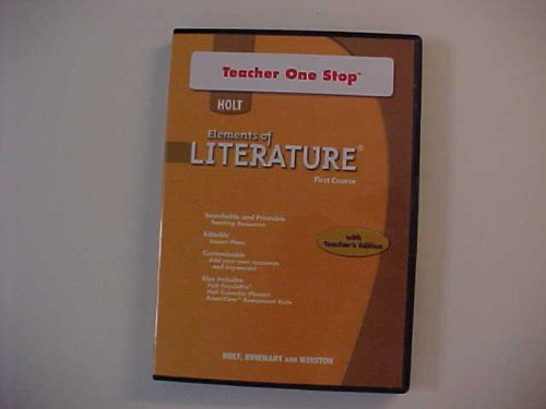 Holt Elements of Literature: Teacher One Stop DVD-ROM First Course