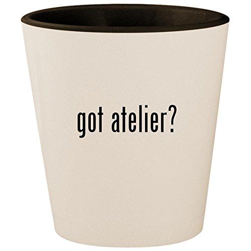 - got atelier? - White Outer & Black Inner Ceramic 1.5oz Shot Glass