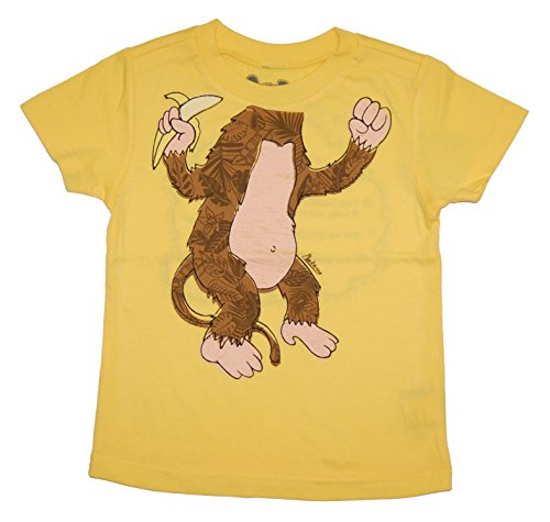 Peek A Zoo Infant Baby Become an Animal Short Sleeve T shirt - Monkey Yellow (18/24 MONTHS)]()