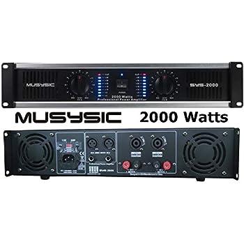 2 Channel 2000 Watts Professional DJ PA Power Amplifier 2U Rack mount on