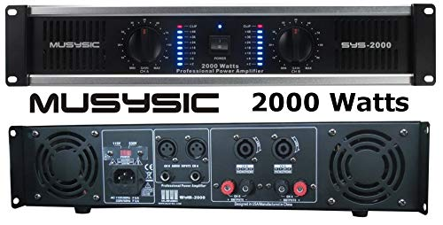 2 Channel 2000 Watts Professional DJ PA Power Amplifier 2U Rack mount SYS-2000 MUSYSIC