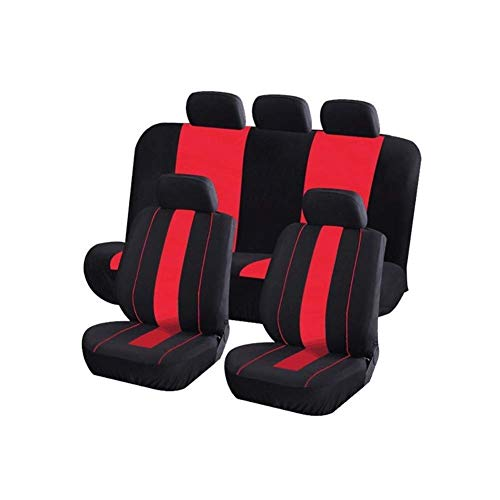 Universal seat cushion for seats, protects the original 9-seat car seat, 99% for five seats (color: red):