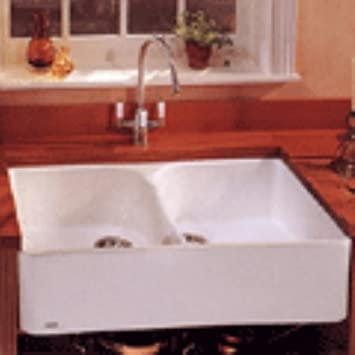 Franke MHK720 31WH Manor House Drop In/Farmhouse Fireclay Kitchen Sink  White Manor House
