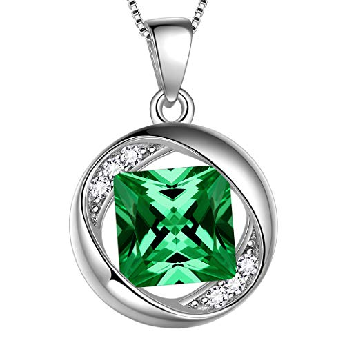 Aurora Tears 925 Sterling Silver May Birthstone Necklaces for Women Birthday Pendant Crystal Birthstones Jewelry Girls Birth Gift DP0029G (Best Business For Scorpio Woman)