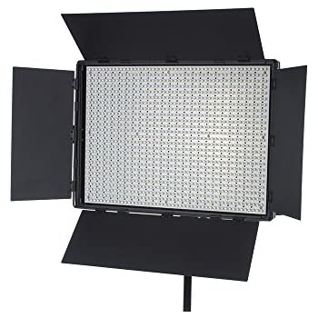 fovitec studiopro 1x bi color 900 led panel w barndoors continuous. Black Bedroom Furniture Sets. Home Design Ideas