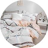 Memoirs- Floral Bedding Set Cotton Linens Sheet Pillowcase Comforter Covet Sets Single Double Queen Full Size,630002,RUeurope200x220