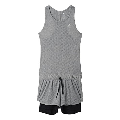 adidas Cool Jumpsuit W - Vestido para mujer Gris (Grpudg)