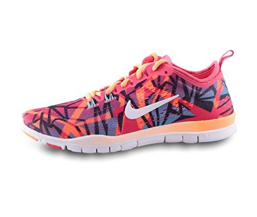 Nike Free 5.0 TR Fit 4 Print Damen Fitnesssschuhe Orange (Orange - Rot - Schwarz)