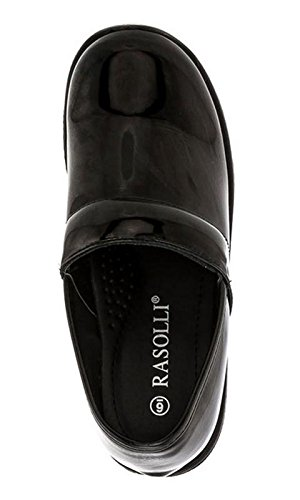 Rasolli Denice Womens Patent Slip On Clogs
