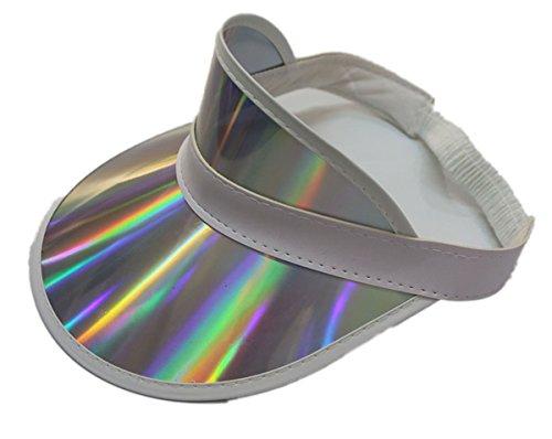 F&J Retro Adjustable Stag Poker Party Visor Hat Headband Cap Neon Sun Golf Flash Color