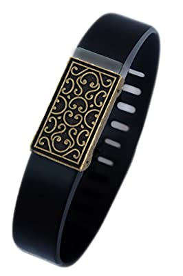 Fitbit bling jewelry Fitbit Flex jewelry accessory - JUNE (Antique Gold Plated)