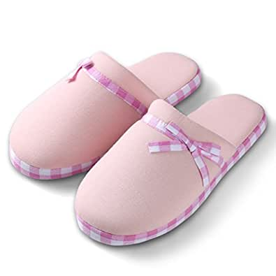 Women 39 S Checker Slide Cute Light Pink Cozy Lazy Lounging Soft Bedroom House