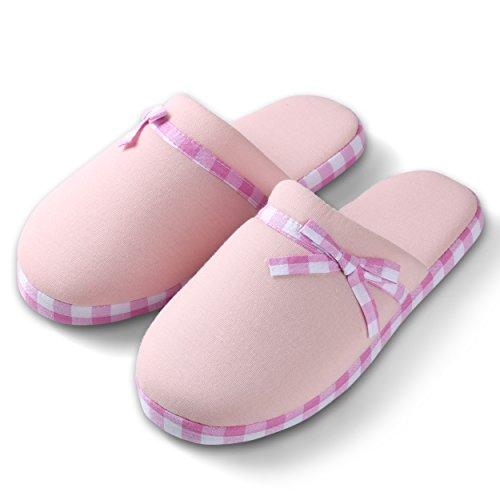 Cute House Checker Lazy Cozy Lounging Slide Pink Bedroom Soft Pink Slippers Women's Light YvEAE