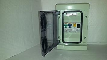fuse box in garage garage consumer unit ip65 2 way fuse box fitted with rcd 63amp  consumer unit ip65 2 way fuse box