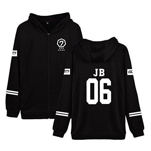 JUNG KOOK Kpop GOT7 2019 World Tour Keep Spinning Hoodie Jackson Bambam Zipper Sweater