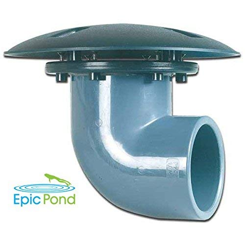 (Epic Pond 90 Degree Pond Bottom Drain - 2 inch)