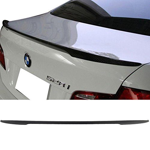 Pre-painted Trunk Spoiler Fits 2011-2016 BMW F10 5 Series   P Style Matte Black Painted ABS Trunk Boot Lip Spoiler Wing Add On Deck Lid By IKON MOTORSPORTS   2012 2013 2014 2015
